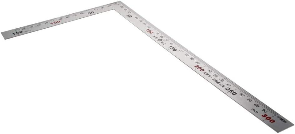 Utoolmart 1.2mm Thick L Square Shape Ruler 150300mm Steel ...