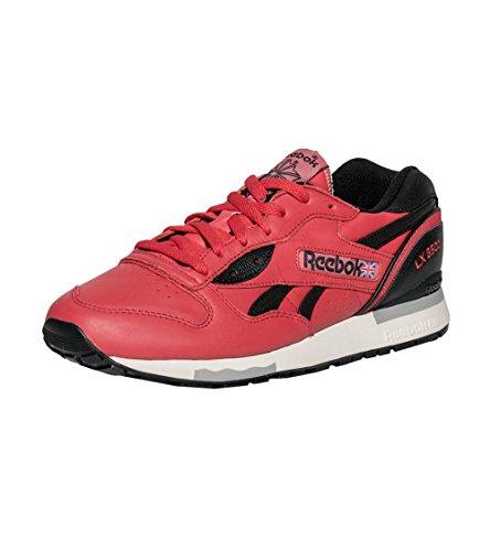 Hommes Reebok Lx 8500 Hommes Rétro Chaussures De Course Classique Sneakers V55167 Stade Rouge / Noir / Papier Blanc / Étain Taille 10