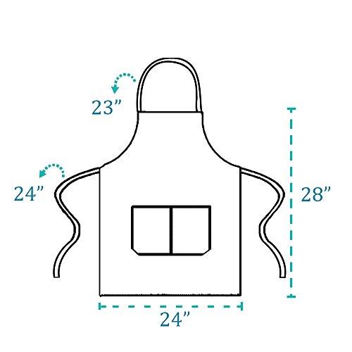 NOBONDO 12 Pack Bib Apron - Unisex Black Apron Bulk with 2 Roomy Pockets Machine Washable for Kitchen Crafting BBQ Drawing by NOBONDO (Image #2)