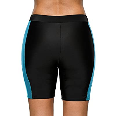 Sociala Women's Board Shorts High Waisted Swim Shorts Long Tankini Swim Bottoms at Women's Clothing store