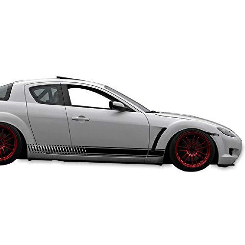 Bubbles Designs Decal Sticker Vinyl Side Door Stripe Kit Compatible with Mazda RX-8 2002-2012 (Black)