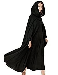 Sevozimda Women Casual British Hoodie Poncho Cape Tunic Cloak Outerwear