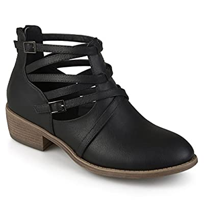 Journee Collection Womens Strappy Faux Leather Booties