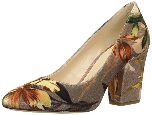 Closed Nine Heels Floral West Toe Scheila Multi Taupe Women's 4avqO