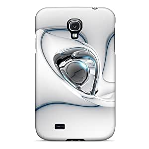 Excellent Galaxy S4 Cases Tpu Covers Back Skin Protector 3d Abstract White