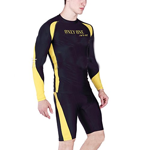 SHRJJ De 2017 Europa Y Los Estados Unidos Las Ráfagas De Hombre De Manga  Larga Surf Ropa UPF50 Protector Solar Traje De Baño De Los Hombres dc4c9404292
