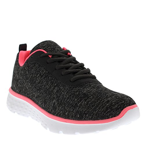 Get Womens Sport Walk Go Running Athletic Shoes Gym Fit Black Grey Pink Mesh Run Jersey Trainers BrFcwaBRq
