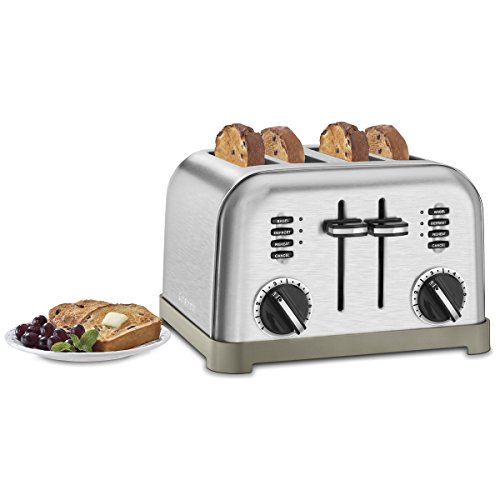 Cuisinart CPT 180 Metal Classic 4 Slice Toaster Brushed
