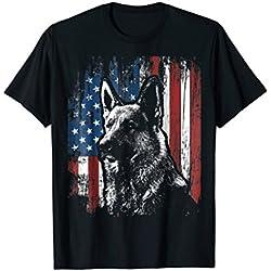 Patriotic German Shepherd American Flag Shirt Dog Gifts