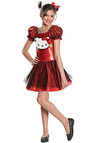 [Hello Kitty Sequin Hello Kitty Dress Child Costume - Large] (Hello Kitty Child Costumes)