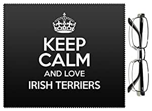 Negro Keep Calm And Love irlandés Terriers lente gamuza color 1546