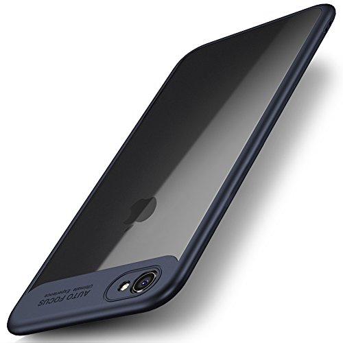 iPhone 6 Plus / 6S Plus Case, Premium Hybrid Protective Clear Bumper Case Scratch Resistant Transparent Slim Shock Absorbing Cover for Apple iPhone 6 Plus / 6S Plus(5.5'') - Navy