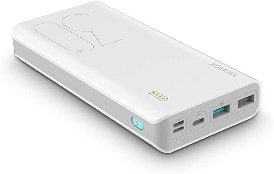 Powerbank 30000mAh 18W, ROMOSS Bateria Externa para Movil 3A Carga ...