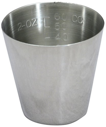 Medline DYND052A Stainless Steel Medicine Cup, 2 oz, Graduated (Pack of 12)