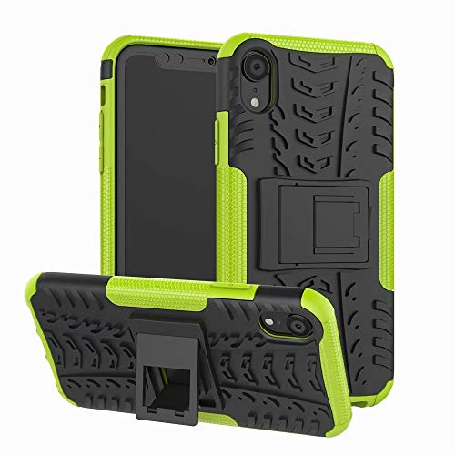Magnetic Cushion Grip - iPhone XR Case, Lisuixi [Texture Non-Slip Design] Full Body Kickstand Case Heavy Duty Durable Rugged [Dirtproof Shockproof] Dual Layer Rubber Hybrid Hard Cover for Apple iPhone XR 6.1