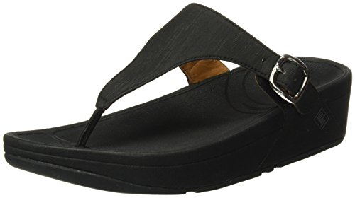 FITFLOP The Skinny, Chanclas Para Mujer Negro (Black)