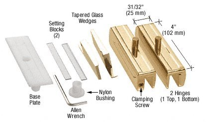 CRL Brass Madrid Series Hinge Kit for 3/8