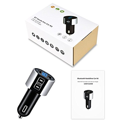 Car charger, BliGli Bluetooth FM Transmitter, BT Receiver with Microphone, Hands -free Calling, 3.4A Dual USB Ports for iPhone,Samsung and Android,Supports Call Number Announcement,Last Call Redial by Bligli (Image #8)
