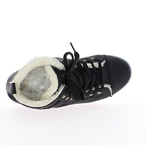 Sneakers donna nero riempito in aumento