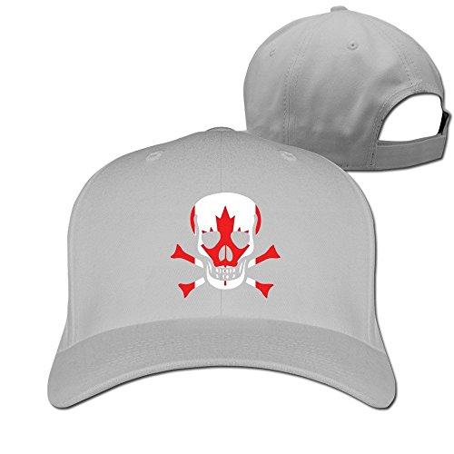 Runy Custom Canada Flag Skull Adjustable Hunting Peak Hat & Cap - Canada Tory Burch