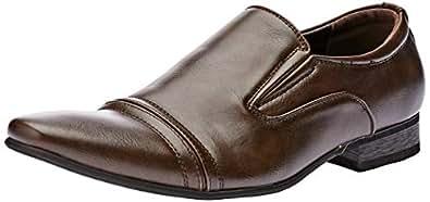 Uncut Men's TRENGROVE Dress Shoe, Chocolate, 10 AU