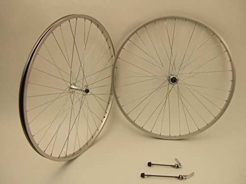 Alloy Road Wheels (27 Inch Aluminum Alloy Road Wheels For Thread On Freewheel Multi Speed Front and Rear Pair)
