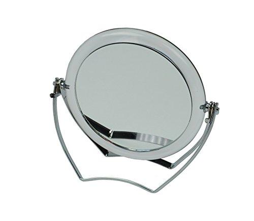 Fantasia Reise-Standspiegel Acryl mit Metallbügel, 15-fach Vergrößerung, Durchmesser: 10 cm, Höhe 12 cm Höhe 12 cm 91439