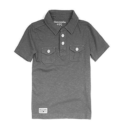 Abercrombie & Fitch Boy's Military Slub Polo Short Sleeve Shirt K-19 (3/4, 0439-013) ()