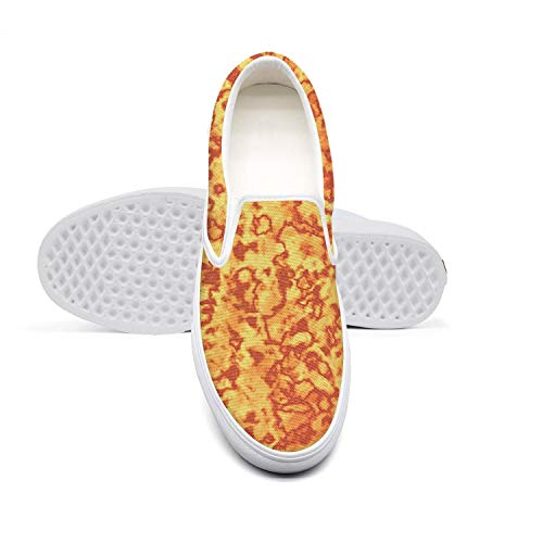 (Men Canvas Sneaker Abstract Fire Seamless Vector Flames Orange Low Help Design Breathable Basketball)