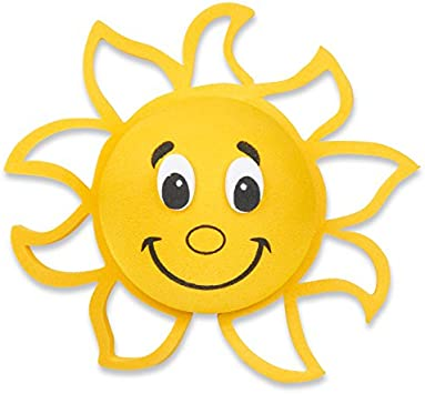 1x Yellow Face Sun Sunshine Sunflower Car Antenna Pen Topper Aerial Ball Vehicle