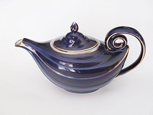 Antique Hall Cobalt Blue 6 cup Teapot 0663 Aladdin Lamp Style