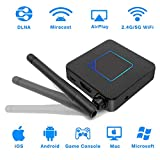 Wireless WiFi Display Dongle, BONDEE 5G&2.4G Wireless HDMI Dongle Mini WLAN Display Receiver Network Video Adapter 1080P HDTV Screen Mirroring Support Airplay DLNA Miracast Compatible with iOS/Andro