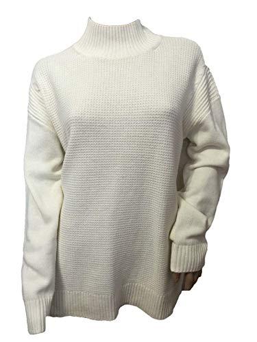 Talbots Ivory Mockneck Cable Sweater Size ()