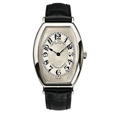 PATEK PHILIPPE Gondolo Hombres del platino reloj negro correa de cuero: Patek Philippe: Amazon.es: Relojes