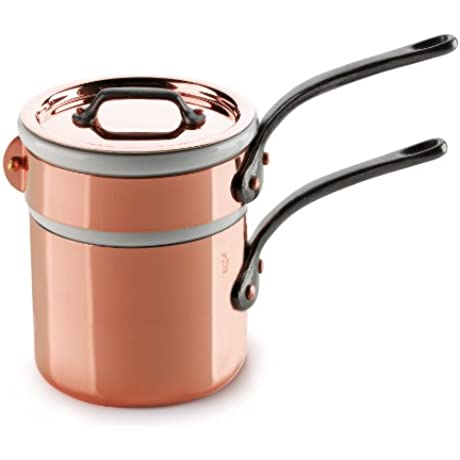 Mauviel Made In France M Heritage Copper 150c 6404 12 0 9 Quart Bain Marie With Cast Iron Handle