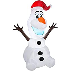 5 FT Olaf Disney Frozen Outdoor Lawn Air Inflatble Blow up...