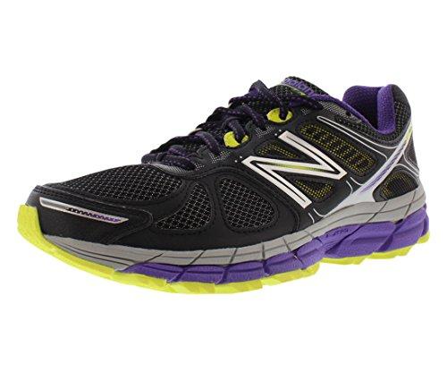 New Balance Wt860v4 Hardloopschoenen Voor Medium Dames Zwart / Paars / Geel