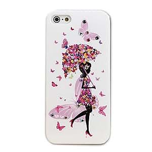 comprar Bling diamante duro caso Paraguas Chica Diseño PC para iPhone5/5s