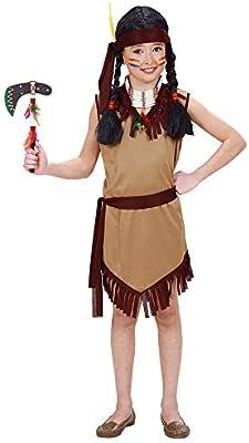 WIDMANN Girl Disfraz de indio del oeste para niña, talla 8 (5-7 ...