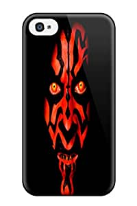 New Snap-on DanRobertse Skin Case Cover Compatible With Iphone 4/4s- Star Wars Phantom Menace
