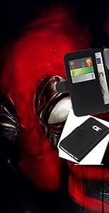 YiPhone /// Tirón de la caja Cartera de cuero con ranuras para tarjetas - Máscara Superhéroe - Samsung Galaxy S6 EDGE
