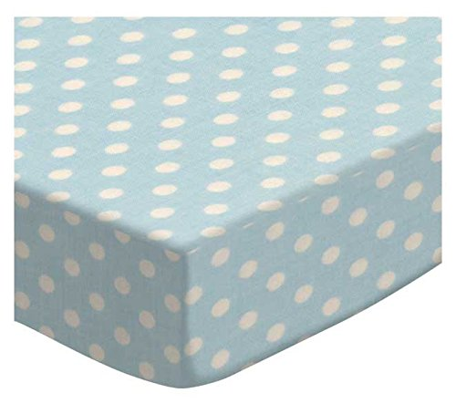 SheetWorld Fitted Portable Mini Crib Sheet - Primary Colorful Polka Dots Woven - Made In USA PC-W607