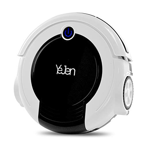 Robotic Cleaner with Vacuum and Sweeper, Cliff Sensor Technology, for Hard Floor Mopping, Low-Pile Carpet Sweep Function and HEPA Filter, Allergies Friendly