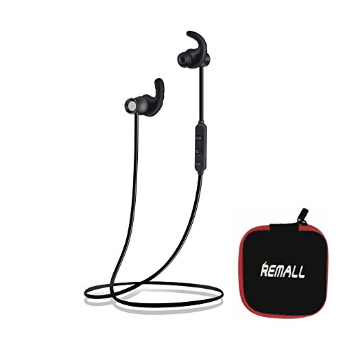 Remall Bluetooth Headphones Sports Wireless Earbuds,best sound quality wireless headphones,earbuds with mic for android phone,mini headphones wireless Sweatproof Headset Magnetic,Magnetic attraction S by REMALL