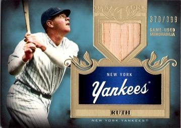 2011 Topps Tier One Relics #TSR16 Babe Ruth Game Used Bat Baseball Card - Only 399 made!