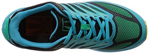 Tecnica Uomo Rush E-Lite 2.0, Verde Azzurro, Scarpa Trail Running, UK 10