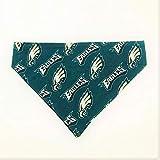 Philadelphia Eagles Pet No-Tie Dog Bandana Over the Collar Kerchief