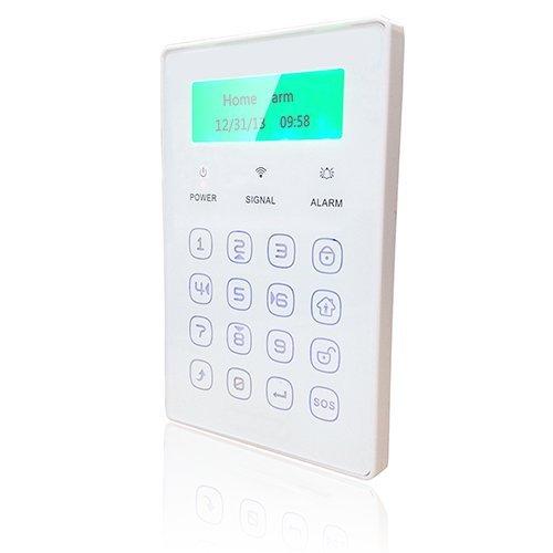 18 opinioni per TASTIERA WIRELESS LCD TOUCH MONITOR STATO ALLARME ATTIVAZIONE ANTIFURTO CASA GSM