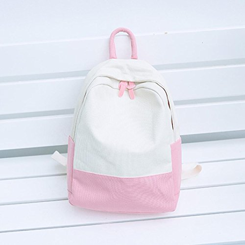 Backpacks School Hit Women Shoulder Canvas Pink Travel Student Cinhent Fashion Color dOqn1dAw