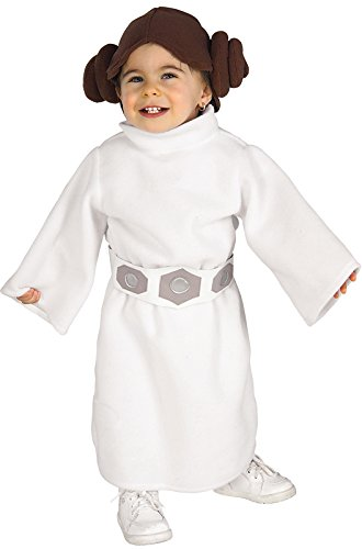 Rubie's Star Wars Princess Leia Romper, White, 1-2 (Iconic Movie Characters For Halloween)